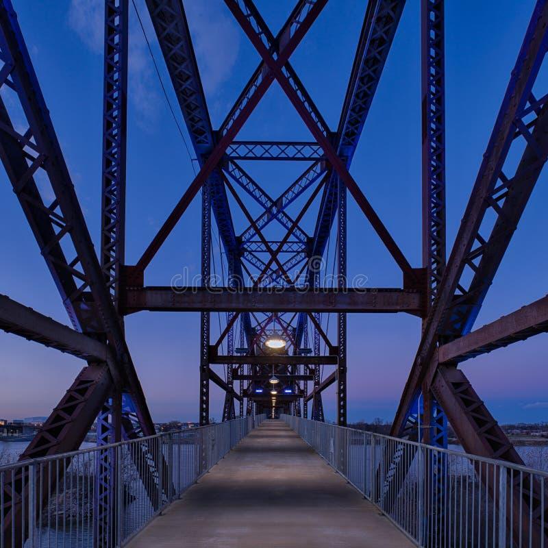 Clinton Presidential Park Bridge royaltyfri bild
