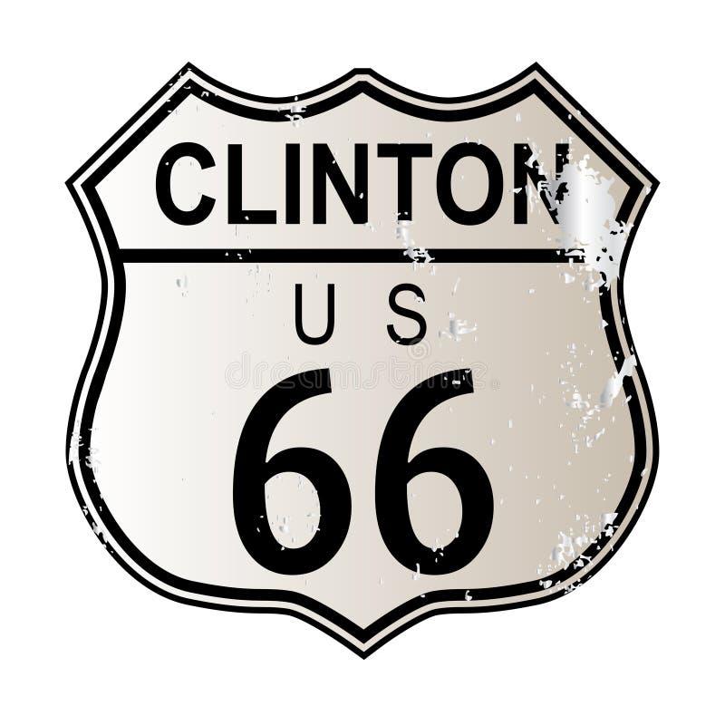 Clinton trasa 66 royalty ilustracja