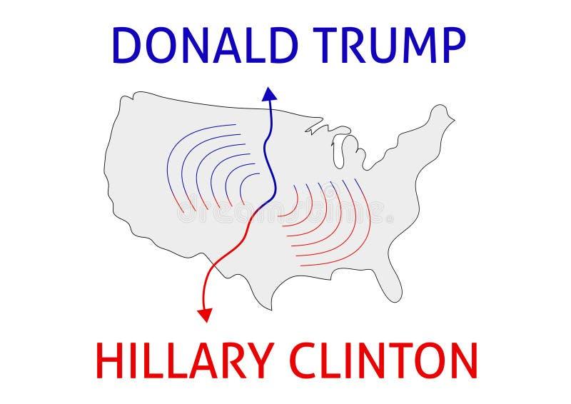 Clinton zwycięzca Donald atut vs Hillary Clinton USA wybory 20 ilustracji