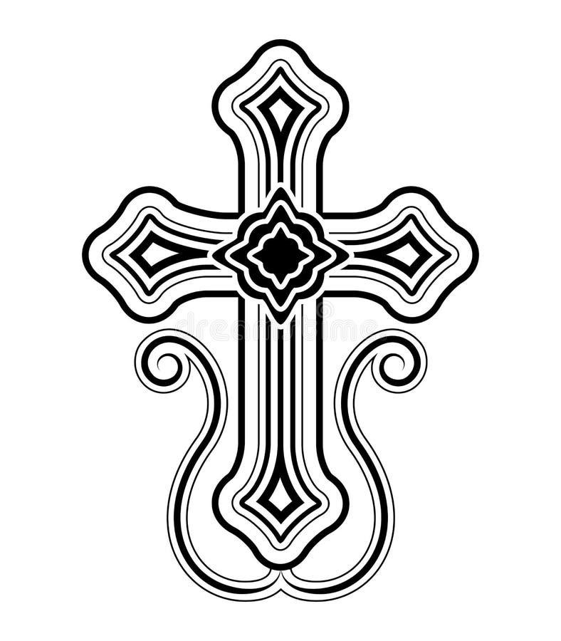 Clip apostólico armenio tradicional a de la cruz de la iglesia ilustración del vector