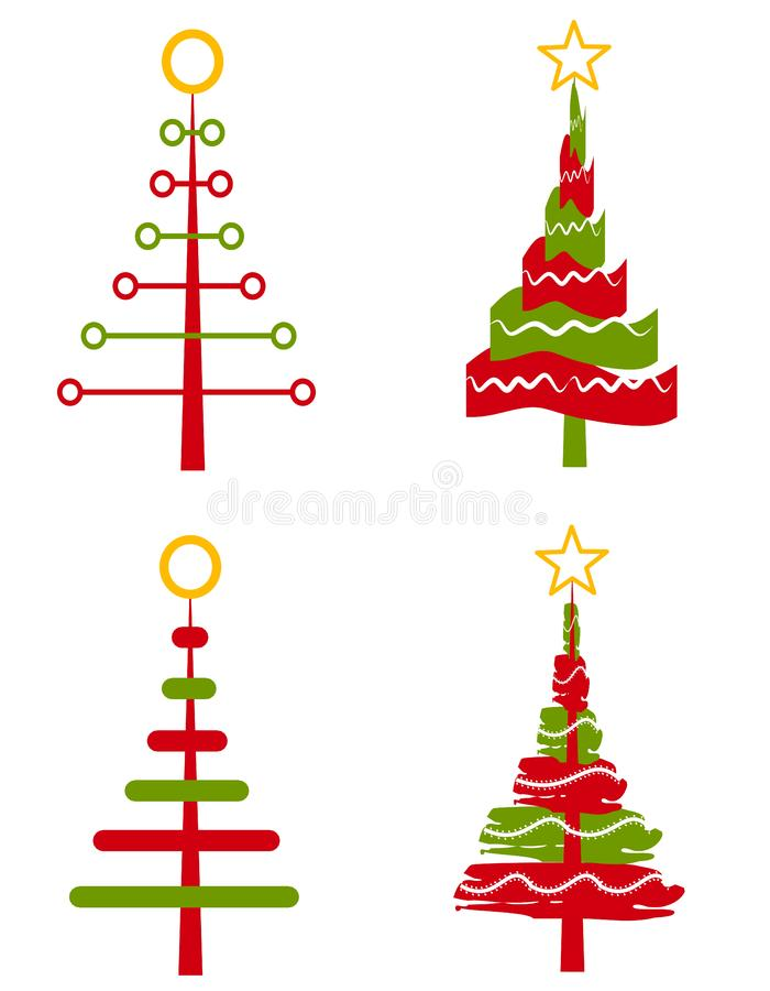 Clip Art 2 Del árbol De Navidad Fotografía De Archivo