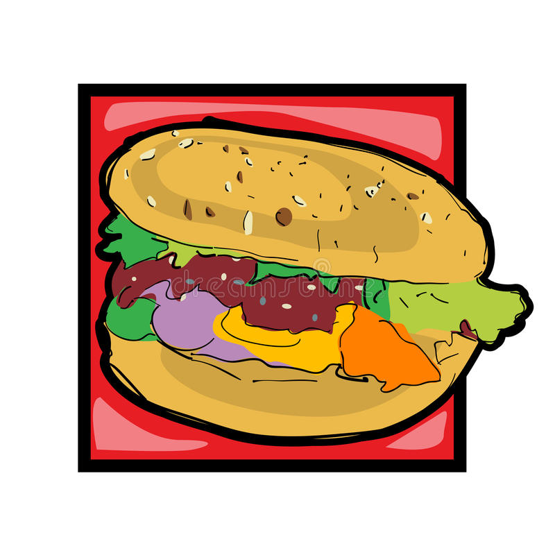 clip art cheeseburger stock vector illustration of isolated 21383776 rh dreamstime com cheeseburger clipart black and white double cheeseburger clipart