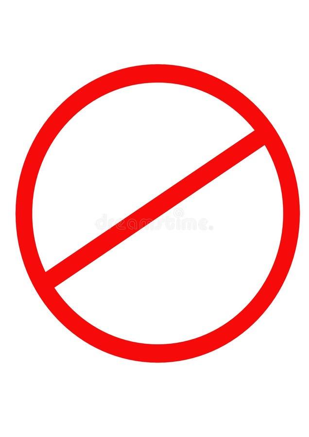 Clip art de la prohibición stock de ilustración