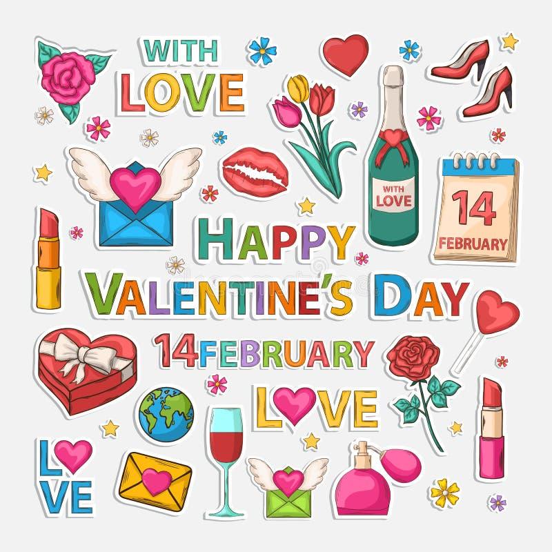 Clip art de las tarjetas del día de San Valentín libre illustration