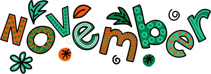 Clip art de noviembre ilustración del vector