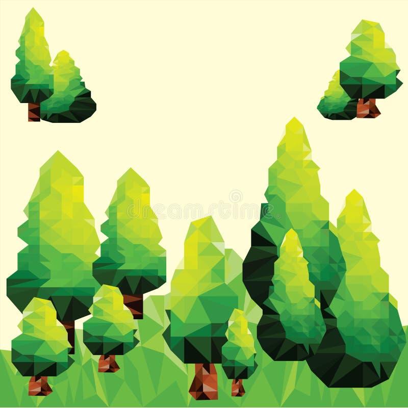 Clip art del pino del polígono del vector libre illustration