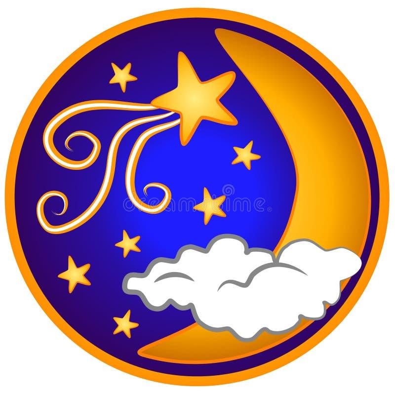 Clip Art Del Shooting Stars De La Luna Fotografía De Archivo Gratis