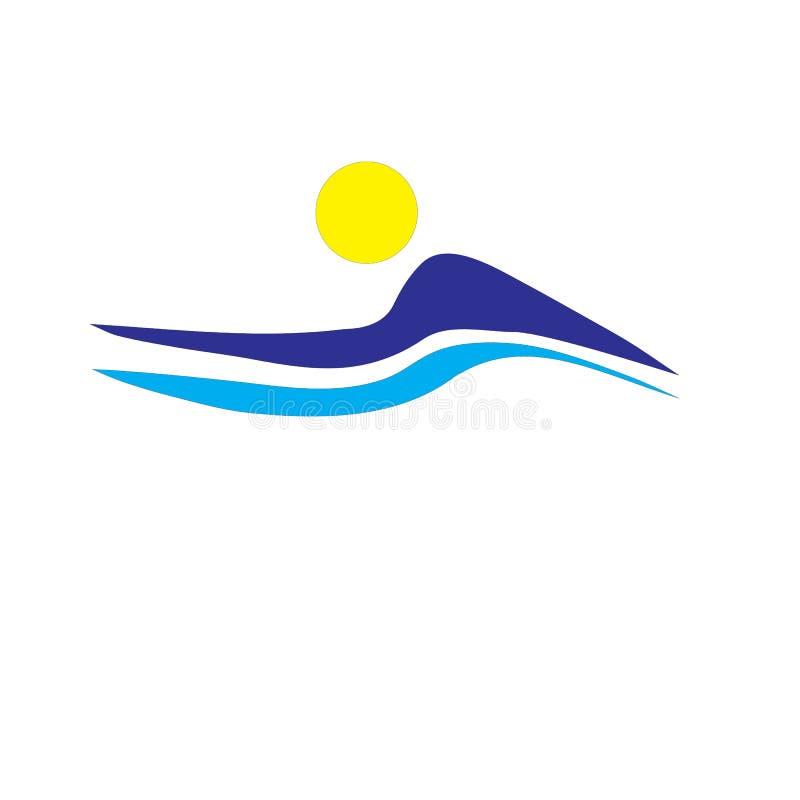 Clip art del vector del negocio del logotipo de la naturaleza de la montaña en el fondo blanco libre illustration
