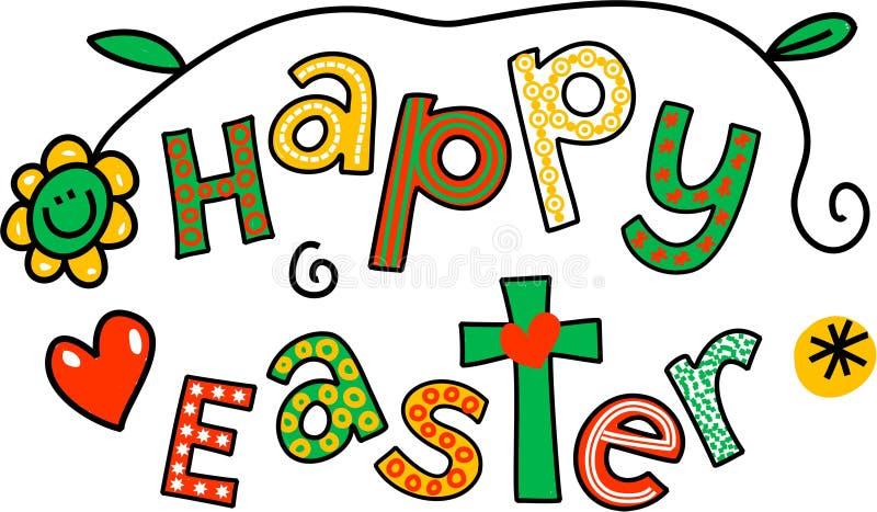 Clip art feliz de Pascua stock de ilustración