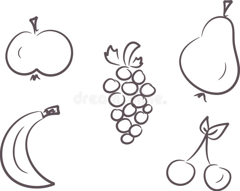 Download Clip-art set: Fruits stock vector. Image of apple, vitamin - 11118823