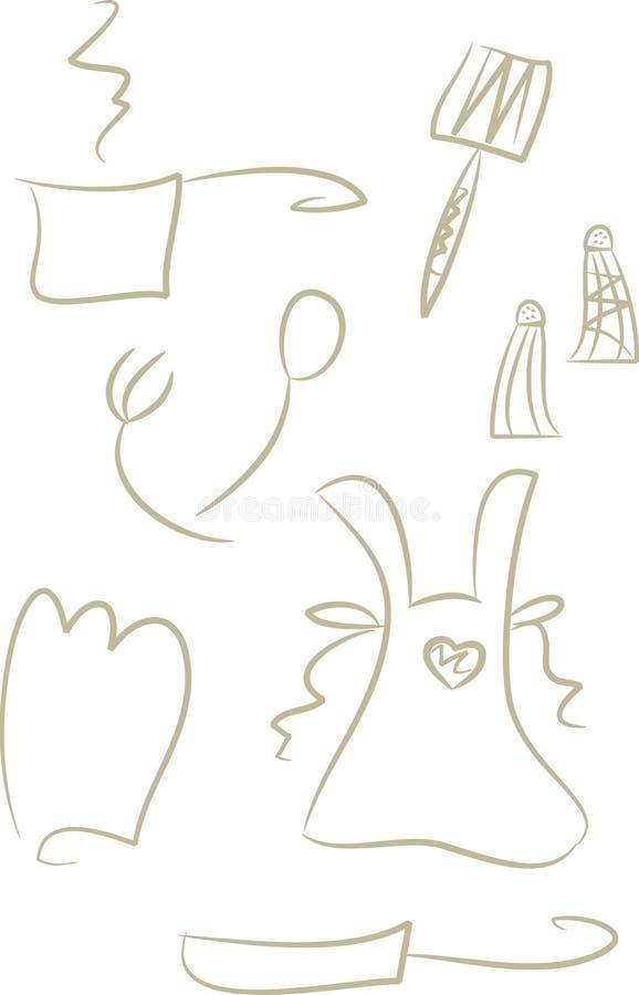 Download Clip-art Set: Kitchen Items Stock Vector - Image: 10682278