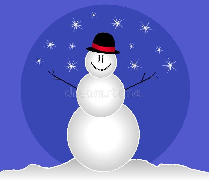 Clip art sonriente del muñeco de nieve foto de archivo libre de regalías