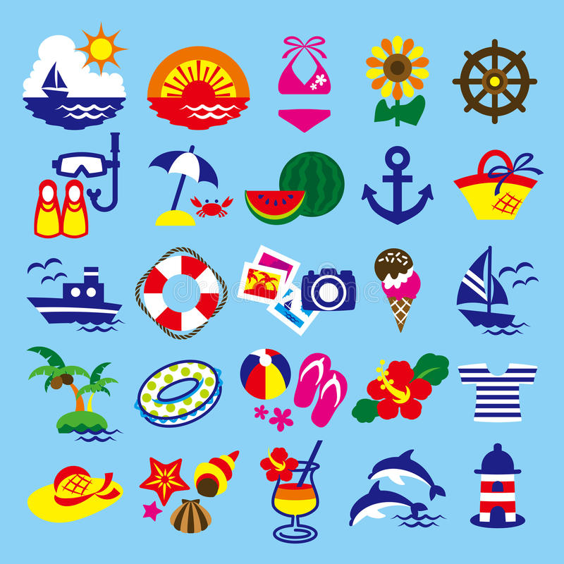 Download Clip art summer stock illustration. Image of fine, starfish - 26246964