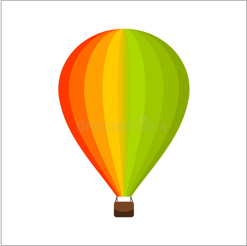 Clip Art Vector Air Balloon Colorfull illustrazione vettoriale