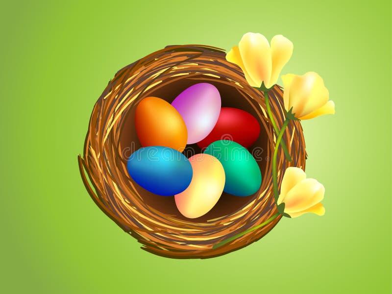 Clip-arte de los huevos de Pascua en jerarquía stock de ilustración