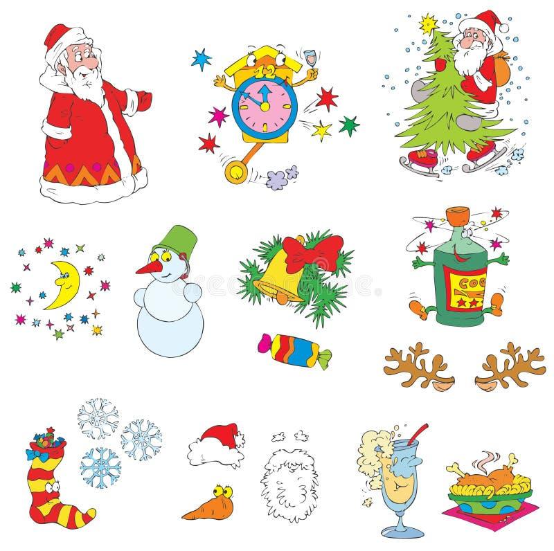 Clip-artes de la Navidad (vector) ilustración del vector