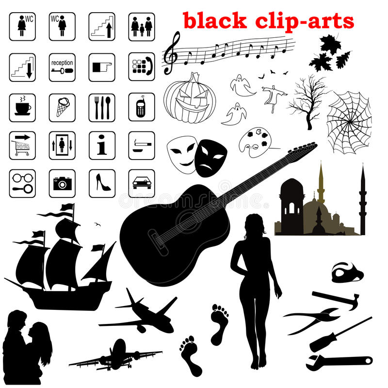 Clip-arti nere di vettore fotografia stock libera da diritti
