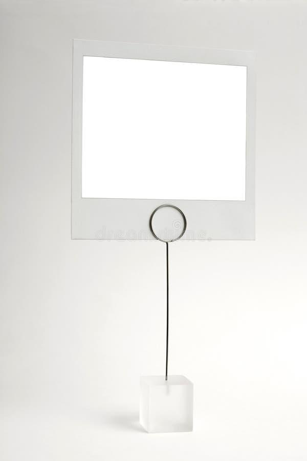 Clip blanc de trame de photo images stock