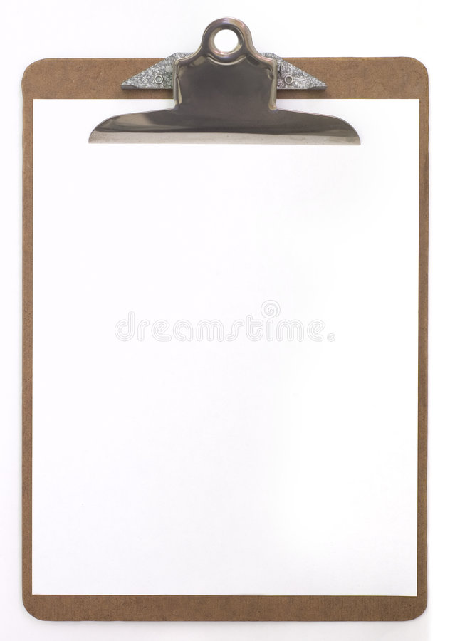 Clip board royalty free stock photography