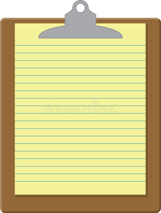 Clip Board stock illustration