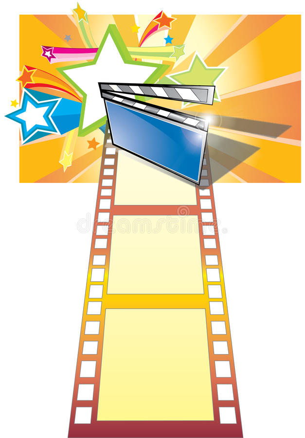 Download Clip Board, Film And Star Backgroundr (with Ai Fil Stock Vector - Image: 13074903