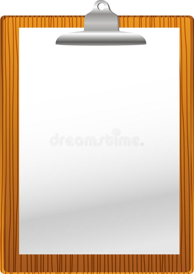 Clip board with paper blank royalty free illustration