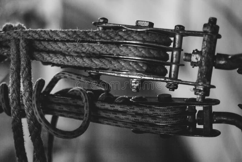 Clip de la honda de la cuerda de alambre de acero foto de archivo libre de regalías