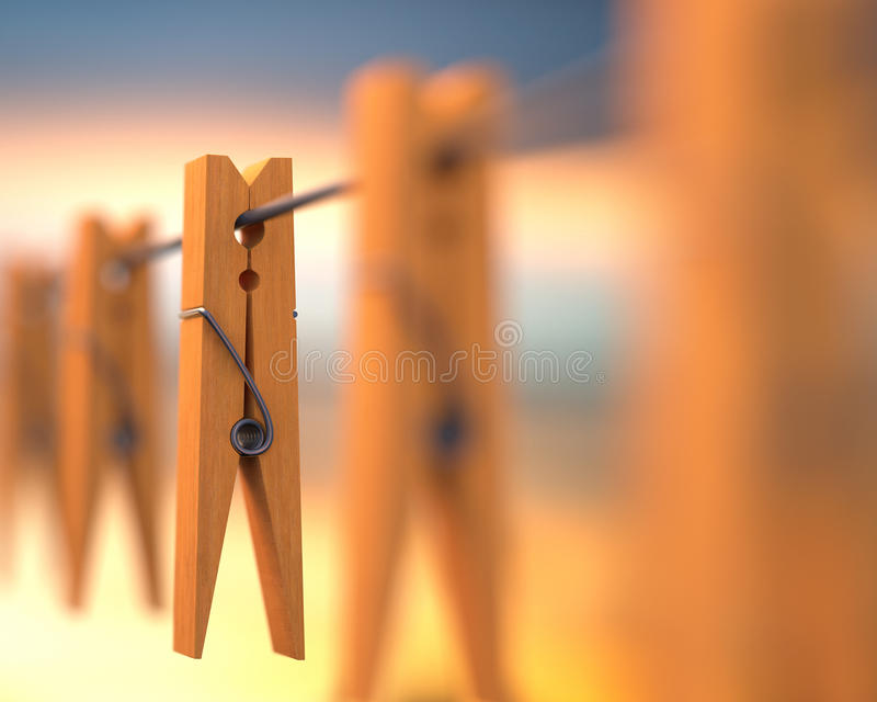 Clip de madera fotos de archivo libres de regalías