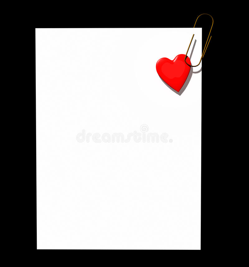 Clip de page de coeur illustration stock