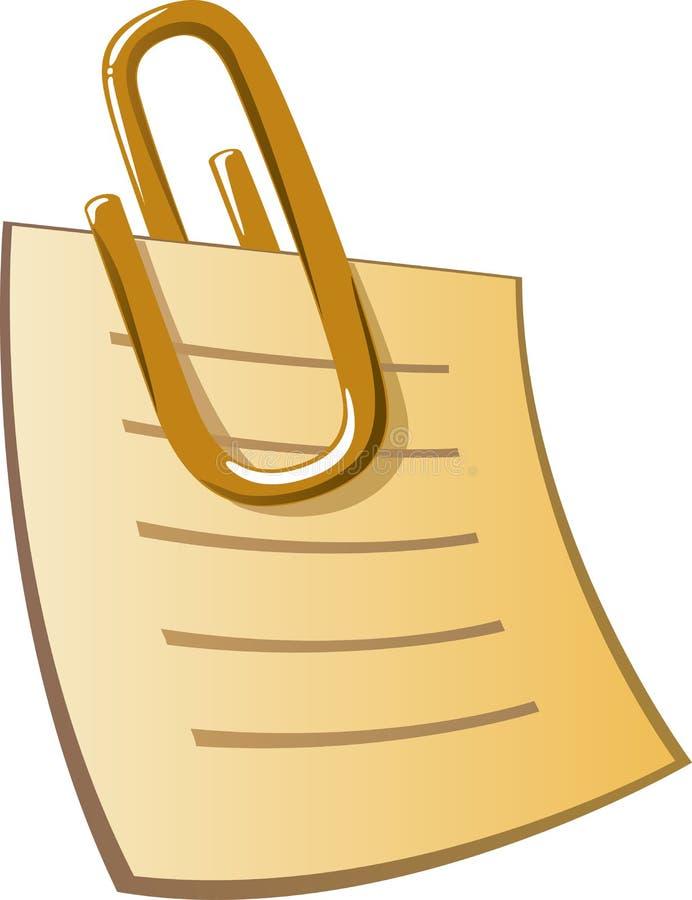 Clip de papel ilustración del vector