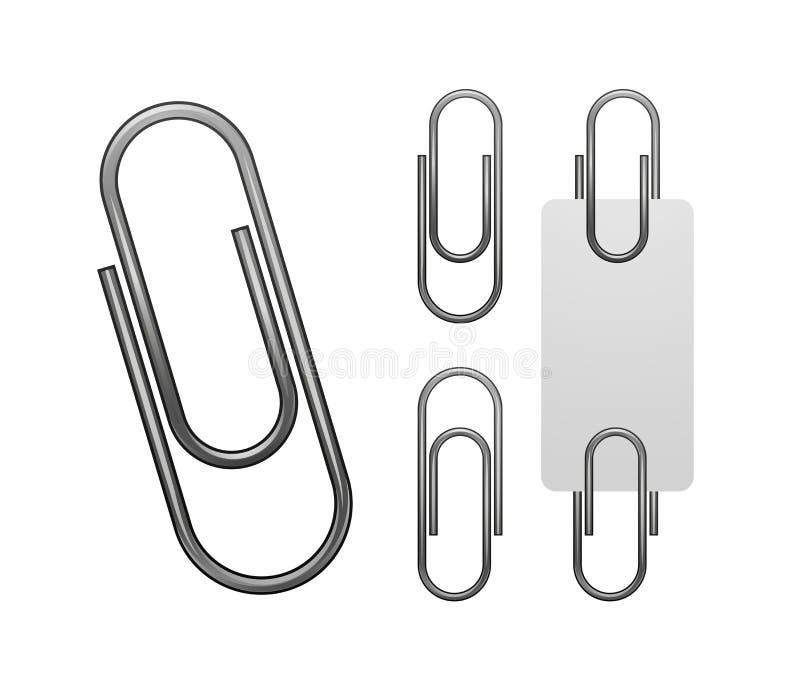 Clip de papel aislado en blanco ilustración del vector