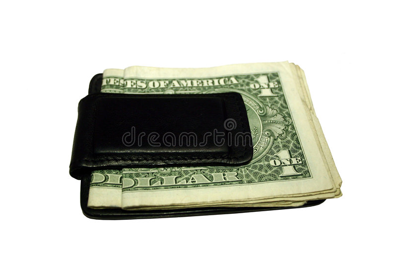 Clip dei soldi fotografie stock