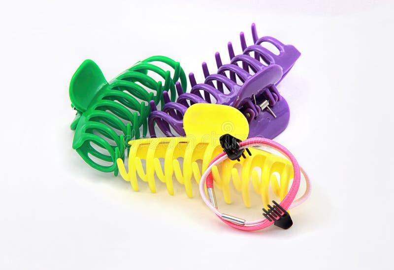 Clip di capelli Colourful del granchio fotografia stock libera da diritti