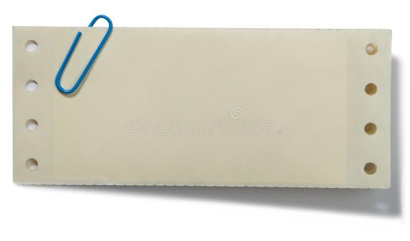 Clip di carta e nota fotografie stock
