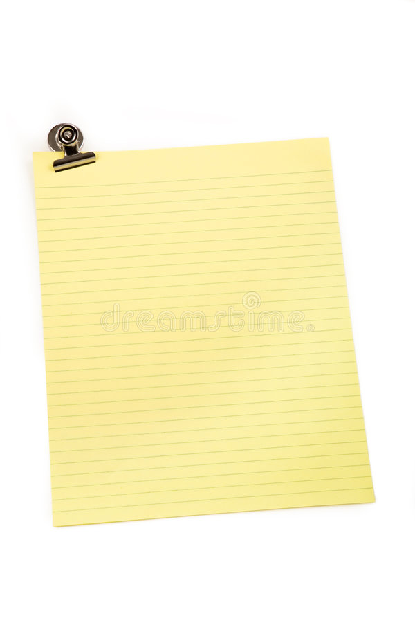 Clip And Letter Paper Royalty Free Stock Photography