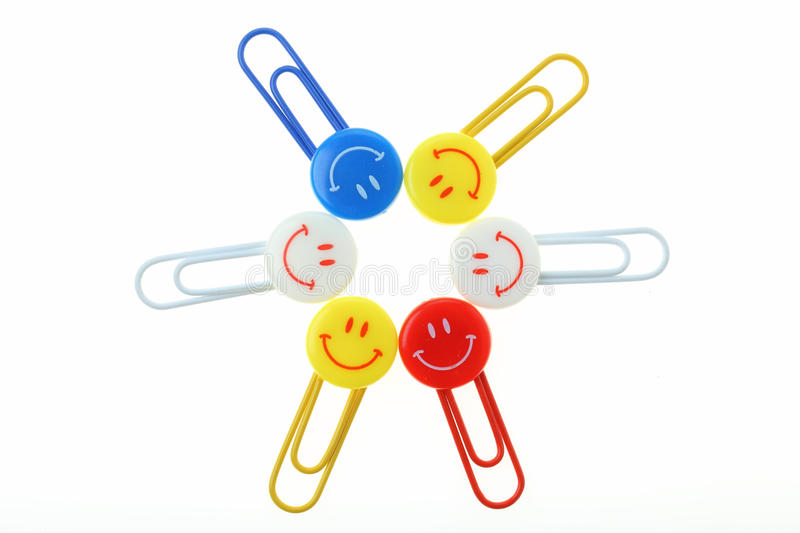 Clip smiles stock photo