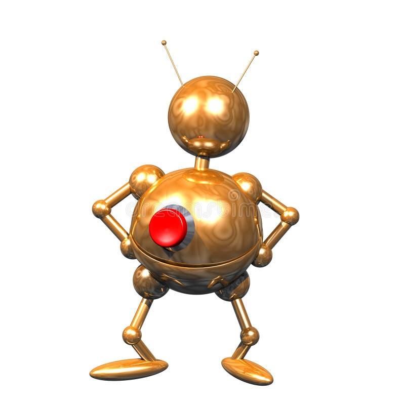 clipart机器人 库存例证
