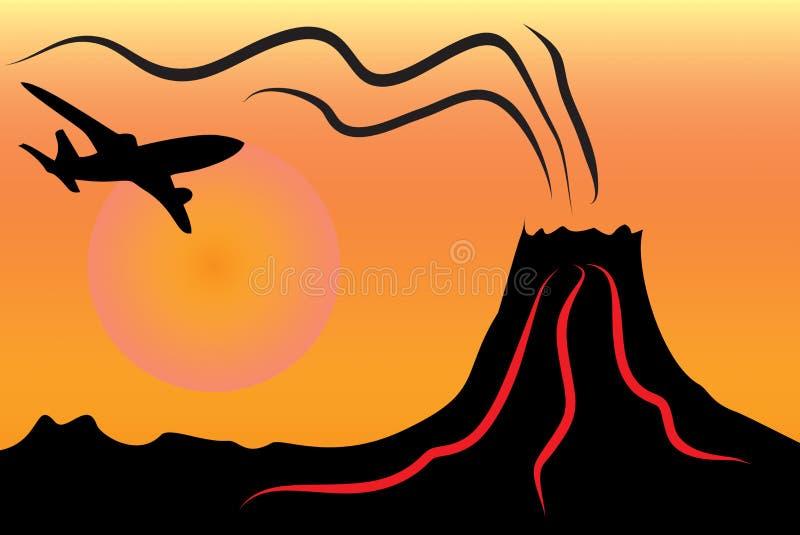 Clipart вулкана нарисованное вручную стоковое фото rf