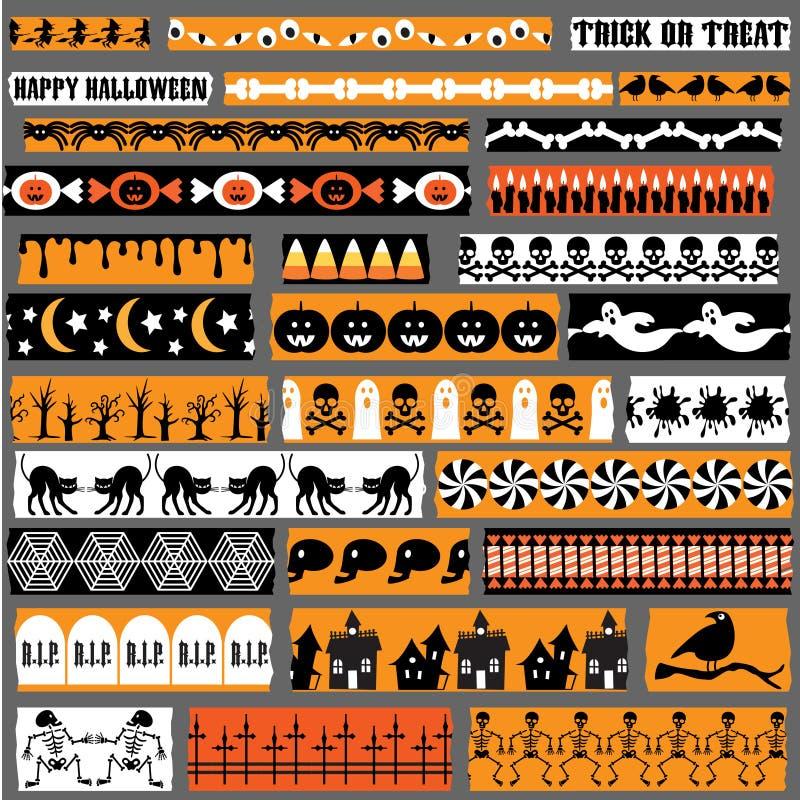 Clipart ленты хеллоуина Washi иллюстрация штока