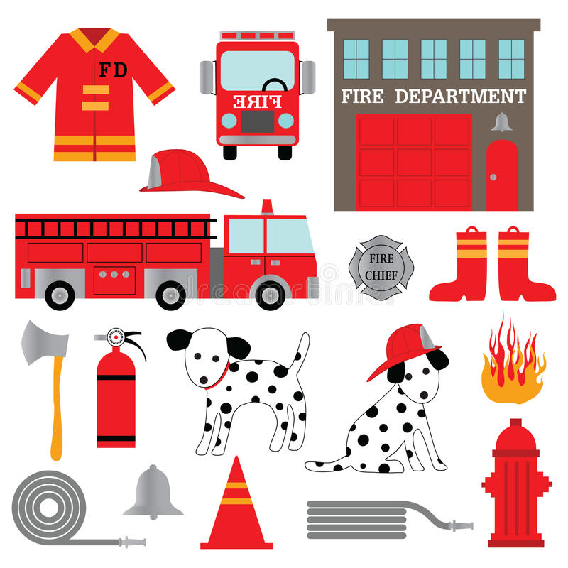 Clipart отделения пожарной охраны бесплатная иллюстрация