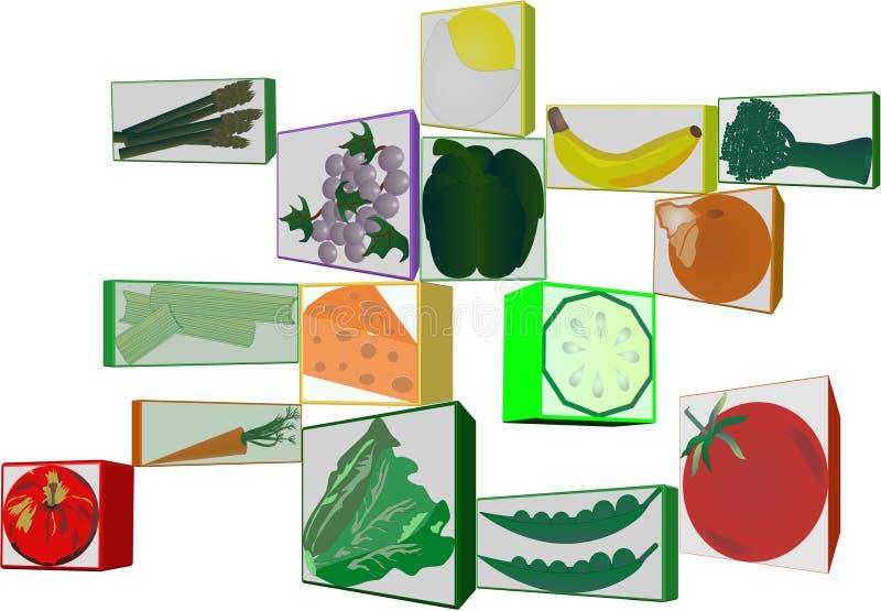 Clipart 3d di frutta e di veggies illustrazione di stock for Clipart frutta
