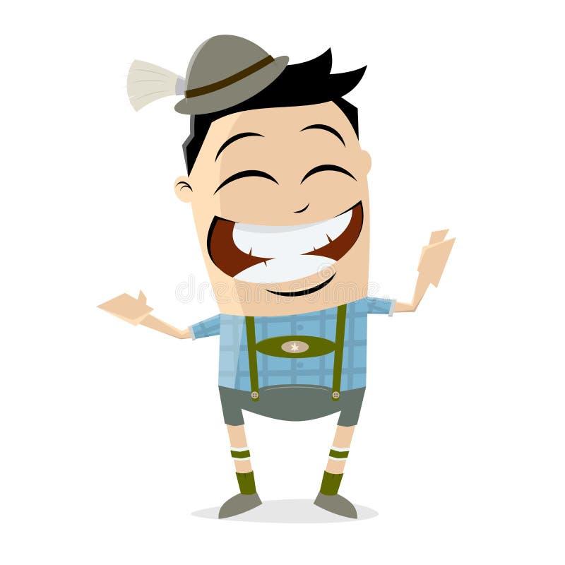 Bavarian cartoon man. Clipart of a bavarian cartoon man vector illustration