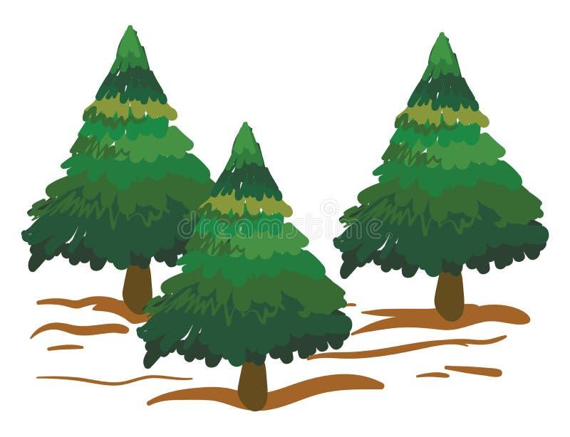 Clipart d'épinettes/Arbres de Noël vecteur ou illustration de couleur illustration libre de droits