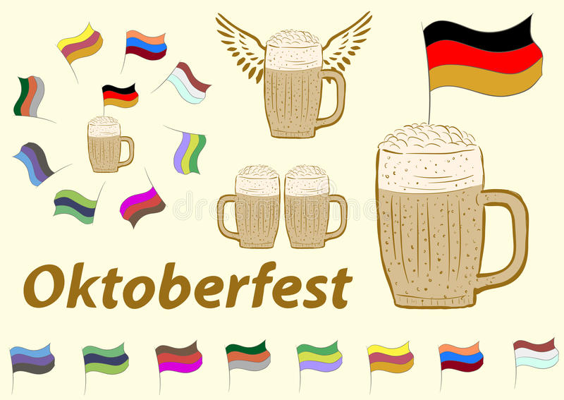 Clipart d'Oktoberfest illustration de vecteur
