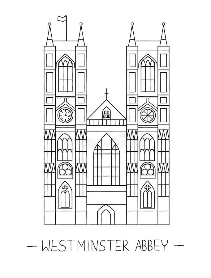 Clipart da abadia de Westminster ilustração do vetor
