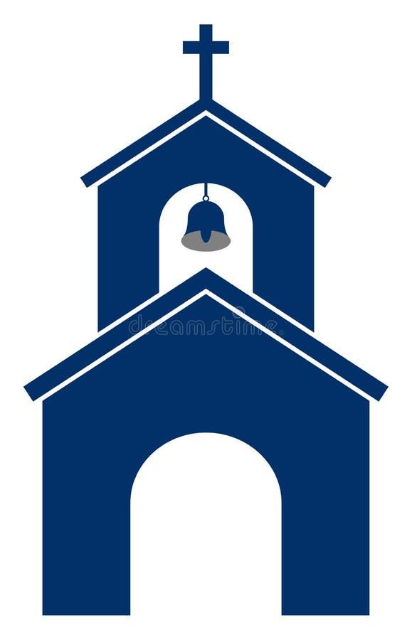 Clipart da igreja da ilustração do vetor ilustração stock