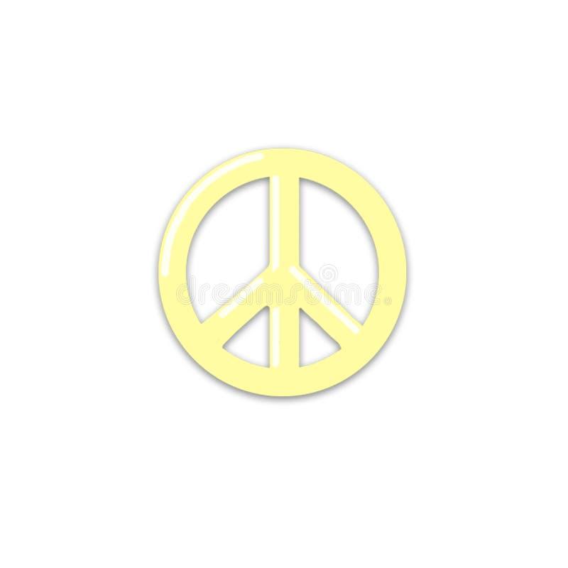 Clipart dawing da mão do ícone da paz no fundo branco ilustração royalty free