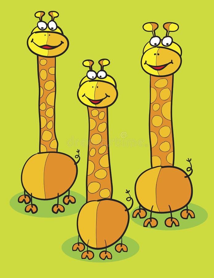 Clipart de giraffe illustration de vecteur