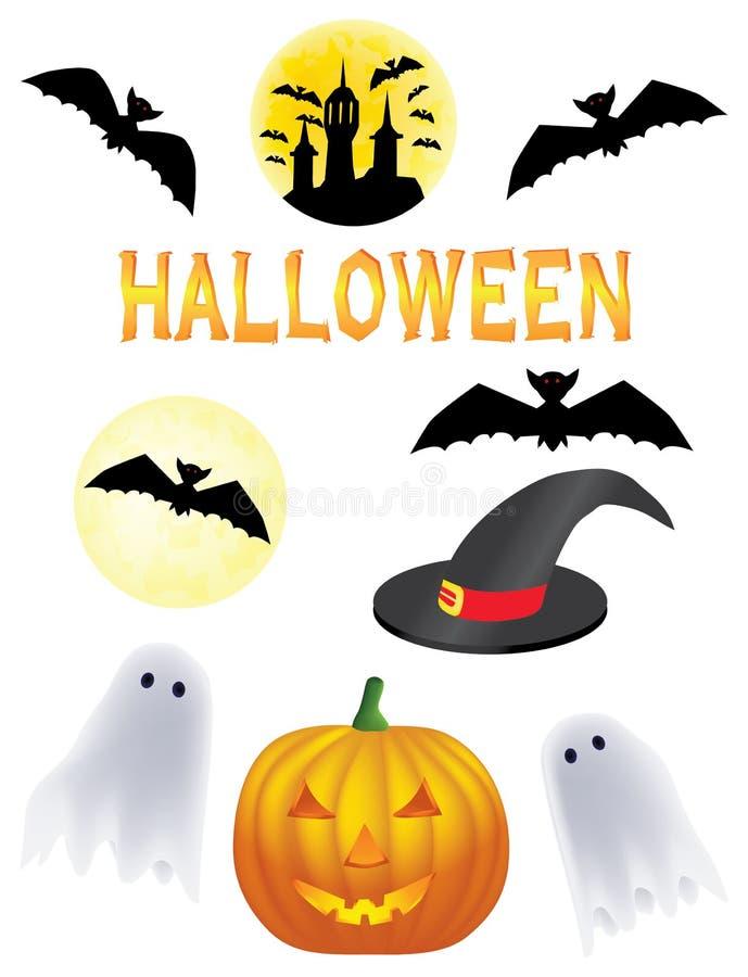 Clipart de Halloween ilustração royalty free
