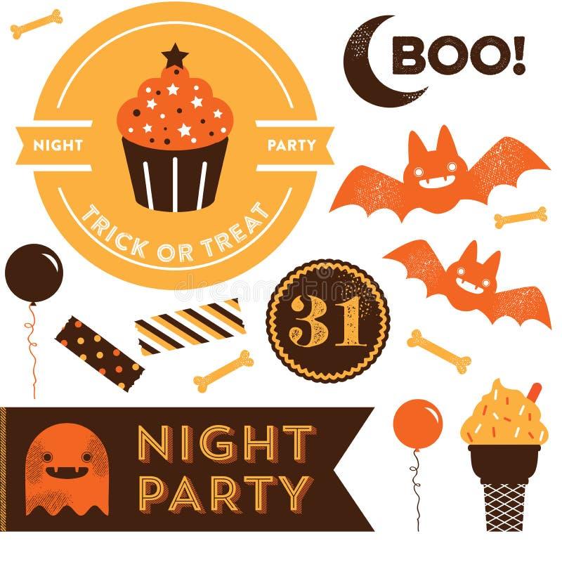 Clipart de Halloween ilustração do vetor